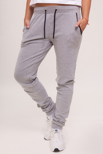 цена Брюки URBAN CLASSICS Ladies Fitted Athletic Pants (Grey, L) онлайн в 2017 году