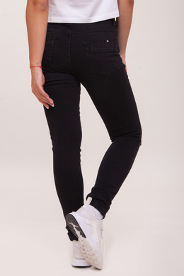 Джинсы URBAN CLASSICS Ladies Ripped Denim Pantst женские Black Washed фото 2