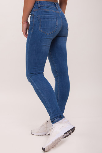 Джинсы URBAN CLASSICS Ladies Ripped Denim Pantst женские Blue Washed фото 5
