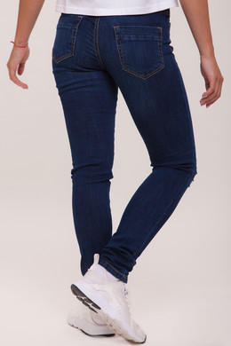 Джинсы URBAN CLASSICS Ladies Ripped Denim Pantst женские Dark Blue фото 2