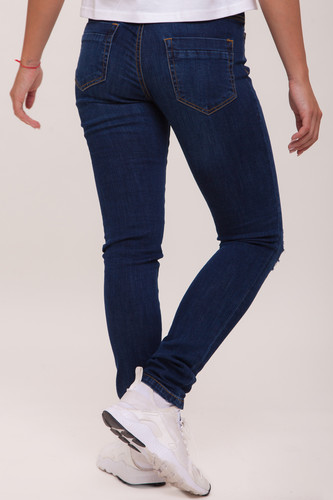 Джинсы URBAN CLASSICS Ladies Ripped Denim Pantst женские Dark Blue фото 5