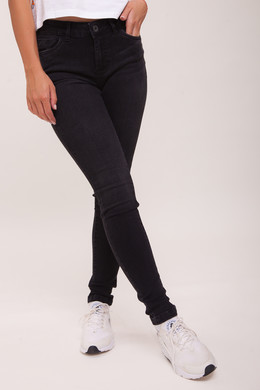 Джинсы URBAN CLASSICS Ladies Skinny Denim Pants Black Washed фото 2