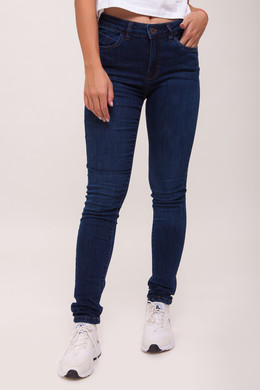 Джинсы URBAN CLASSICS Ladies Skinny Denim Pants Dark Blue фото