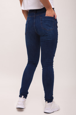 Джинсы URBAN CLASSICS Ladies Skinny Denim Pants Dark Blue фото 2
