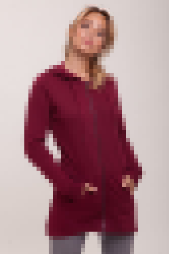 Толстовка URBAN CLASSICS Ladies Sweat Parka (Burgundy, XS) комбинезон urban classics ladies sweat jumpsuit женский black fucsia m