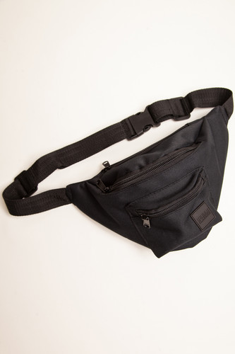 Сумка URBAN CLASSICS Triple-Zip Hip Bag (Black/Black) сумка urban classics multi pocket shoulder bag black black
