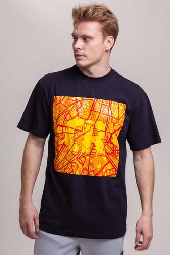 Футболка CODERED T+ CR Map Logo (Чернильный Синий, XL) футболка codered t glyphglitch logo красный xs