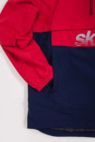 Анорак SKILLS Colorblock Red/Navy фото 13