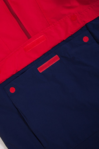 Анорак SKILLS Colorblock Red/Navy фото 15