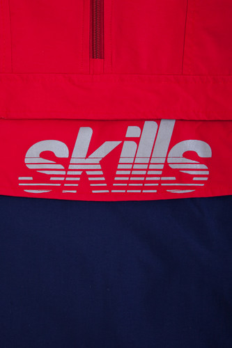 Анорак SKILLS Colorblock Red/Navy фото 16