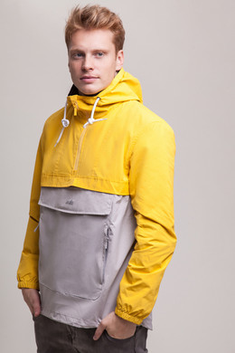 Анорак SKILLS Colorblock Yellow/Grey фото