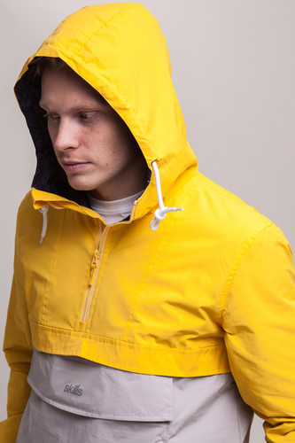 Анорак SKILLS Colorblock Yellow/Grey фото 12