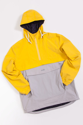 Анорак SKILLS Colorblock Yellow/Grey фото 13