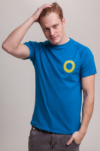 Футболка ЗАПОРОЖЕЦ Бублики (Blue, 2XL) футболка запорожец вязальная темно синий 2xl