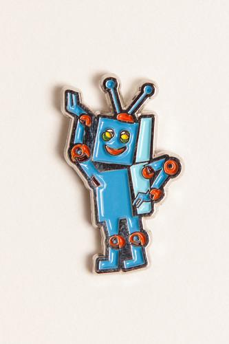 Значок ЗАПОРОЖЕЦ Робот (Разноцветный)