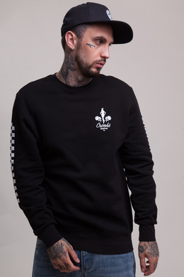 Толстовка CROOKS & CASTLES Rally Crew Sweatshirt Black фото
