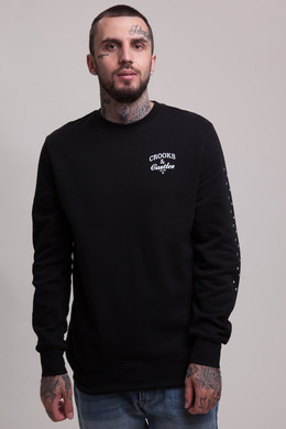 Толстовка CROOKS & CASTLES Timeless Crew Sweatshirt C1780104 Black