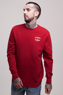 Толстовка CROOKS & CASTLES Timeless Crew Sweatshirt C1780104 Brick фото