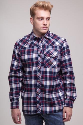Рубашка CODERED Harbor (Чернильный Синий/Молочный/Красный, XL) рубашка codered harbor чернильный синий молочный красный xl