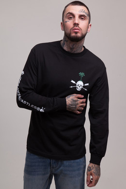 Лонгслив CROOKS & CASTLES Loco L/S Crew Top Black