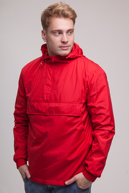 Анорак URBAN CLASSICS Basic Pull Over Jacket Fire Red фото