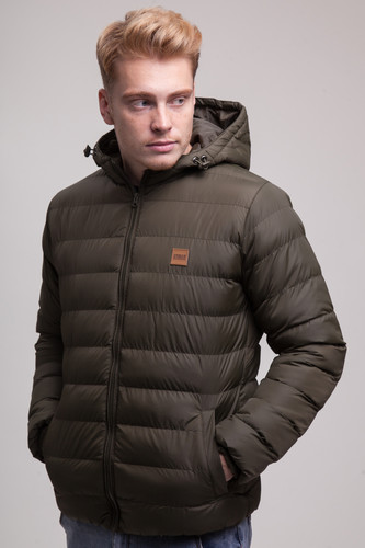 Куртка URBAN CLASSICS Basic Bubble Jacket (Dark Olive/Black/Dark Olive, XL) жилет urban classics basic bubble vest red s