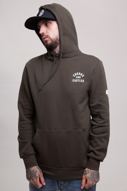 Толстовка CROOKS & CASTLES No Surrender Hooded Pullover Rifle Green фото 2
