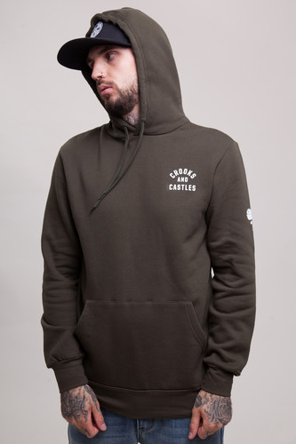 Толстовка CROOKS & CASTLES No Surrender Hooded Pullover Rifle Green фото 12