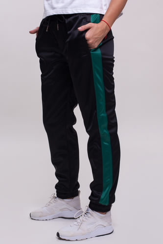 Брюки URBAN CLASSICS Ladies Cuff Track Pants женские (Black/Green, L)