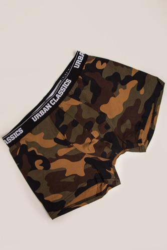 Трусы URBAN CLASSICS 2-Pack Camo Boxer Shorts (2шт) (Wood Camo, XL) шорты urban classics camo stripes mesh shorts wood camo black white m